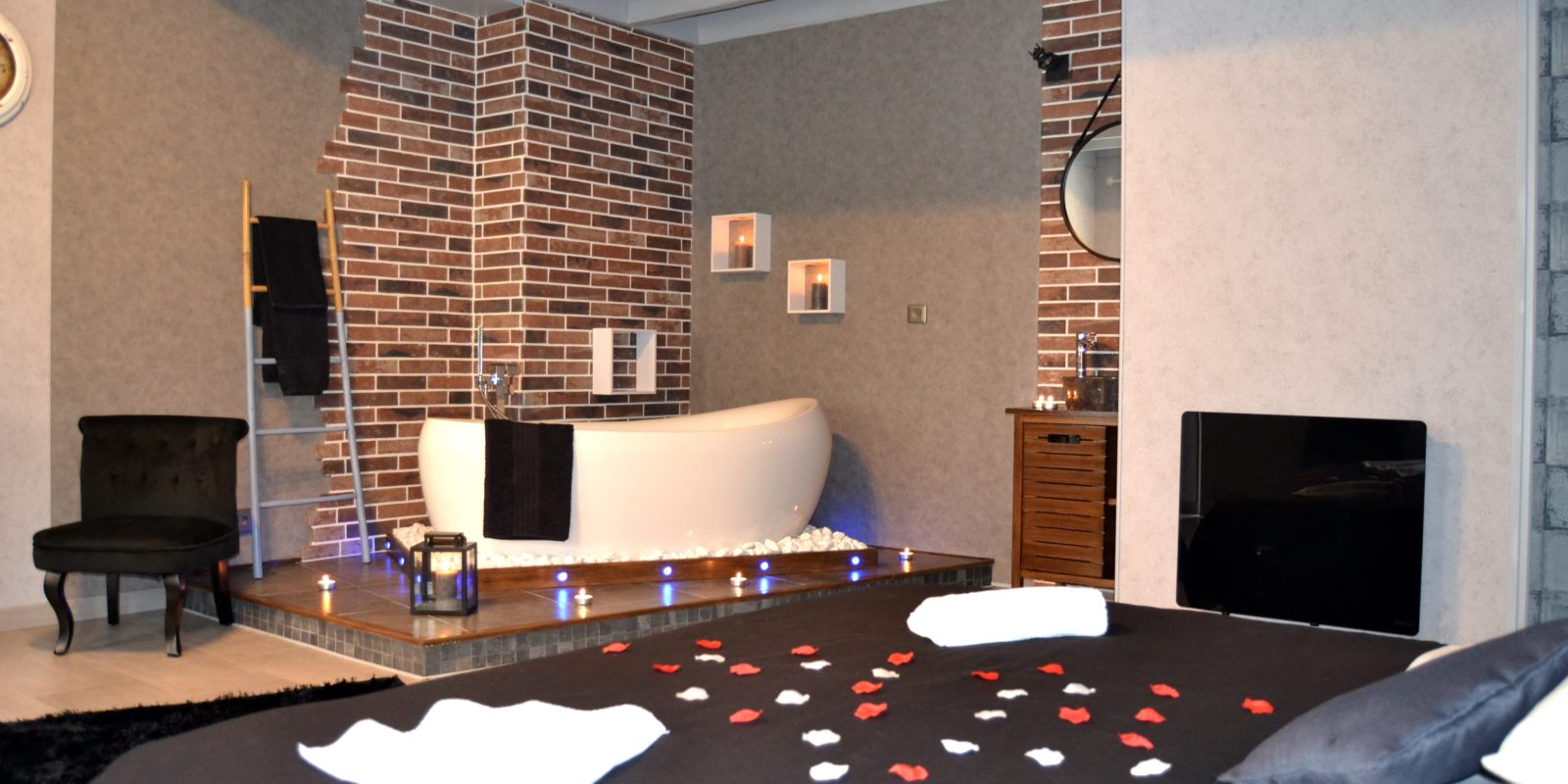 Chambre Ouverte Salle De Bain chambre dionysos - domaine de vandenesse & spa
