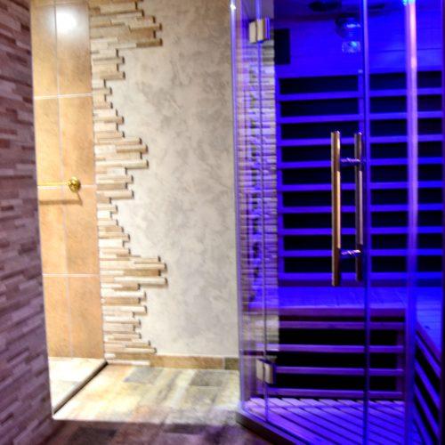 sauna privatif de la suite Bacchus