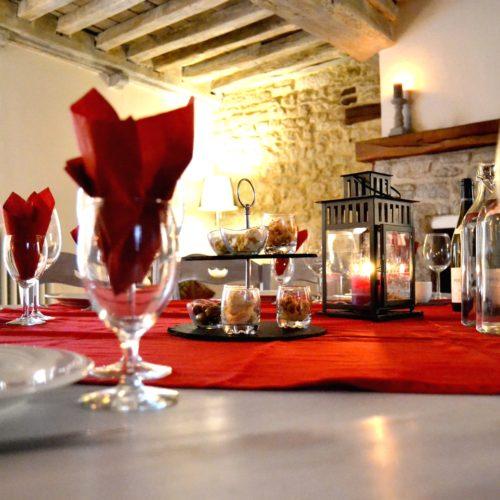 table d'hôtes du Domaine de Vandenesse et Spa