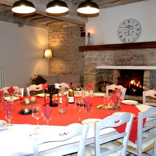 table d'hôtes dressée